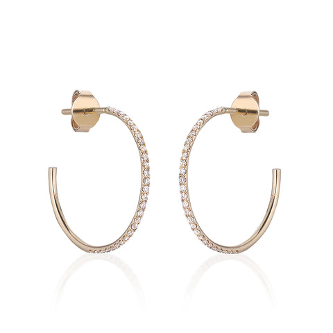 MARIN, Medium Hoops 18mm, Gold