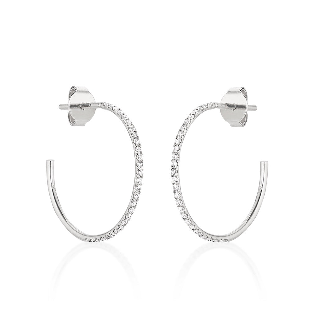 MARIN, Medium Hoops 18mm, White