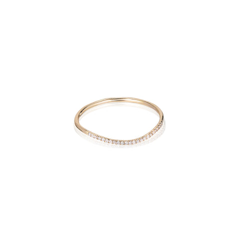 MARIN, Ripple diamond ring, Gold/high