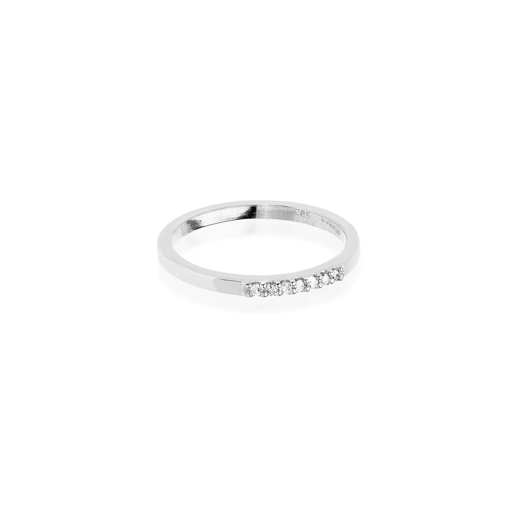 MODERN VINTAGE, 1/6-Line Ultra Light Ring, White Gold