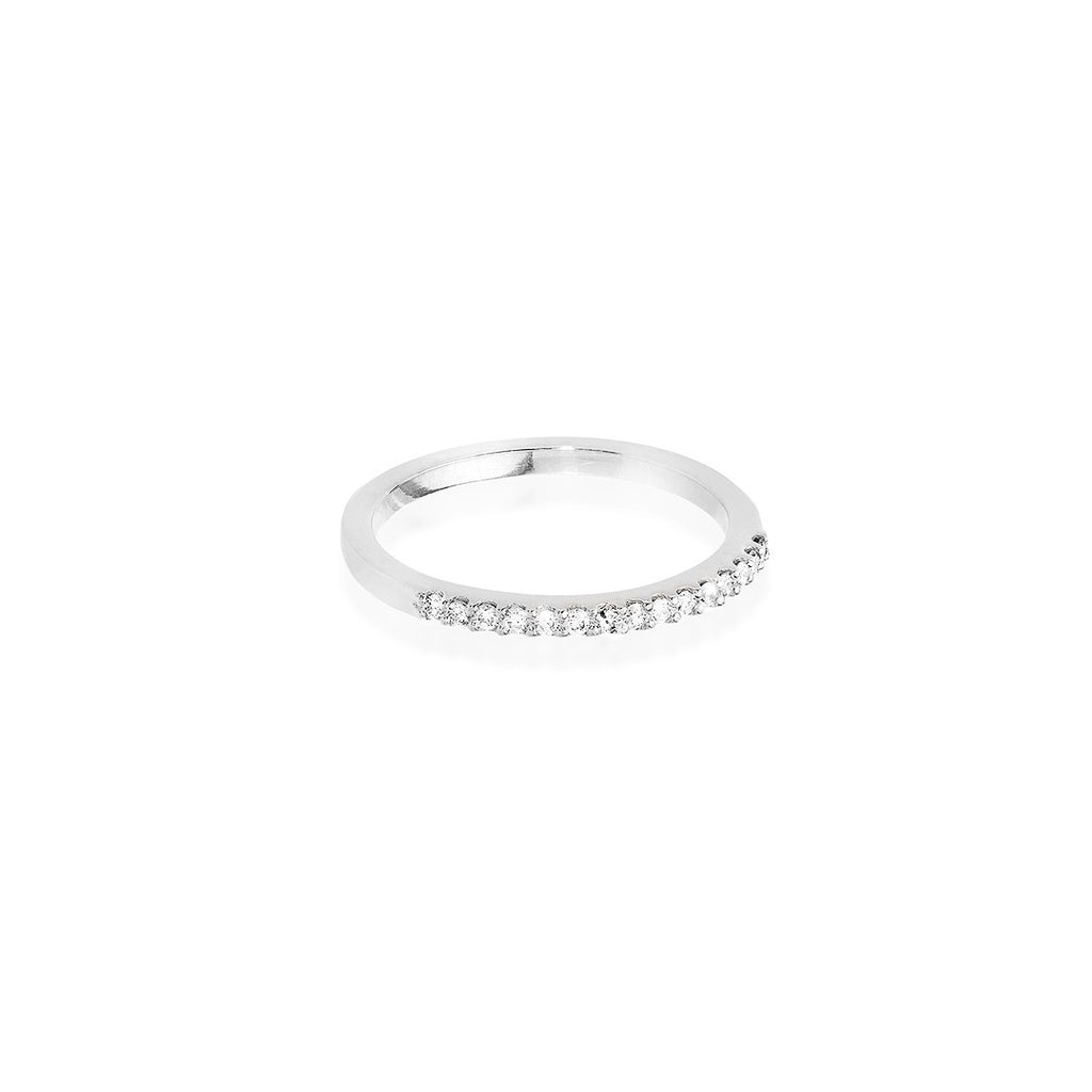 MODERN VINTAGE, 1/3-Line Ultra Light Ring, White Gold