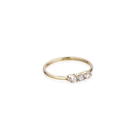 OLYMPIA, Hermes Line Ring, Gold