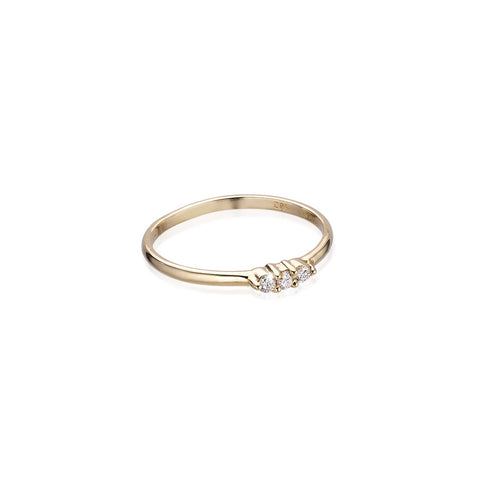 OLYMPIA, Hera Line Ring, Gold