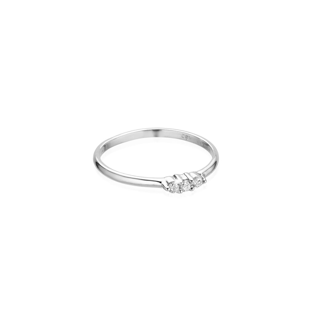 OLYMPIA, Hera Line Ring, White Gold