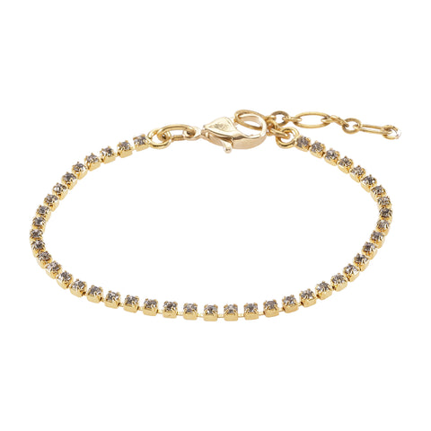 GLINTZ, Crystal bracelet, gray-Gold