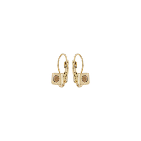 RENAISSANCE, Small square Earring, Sand Gold