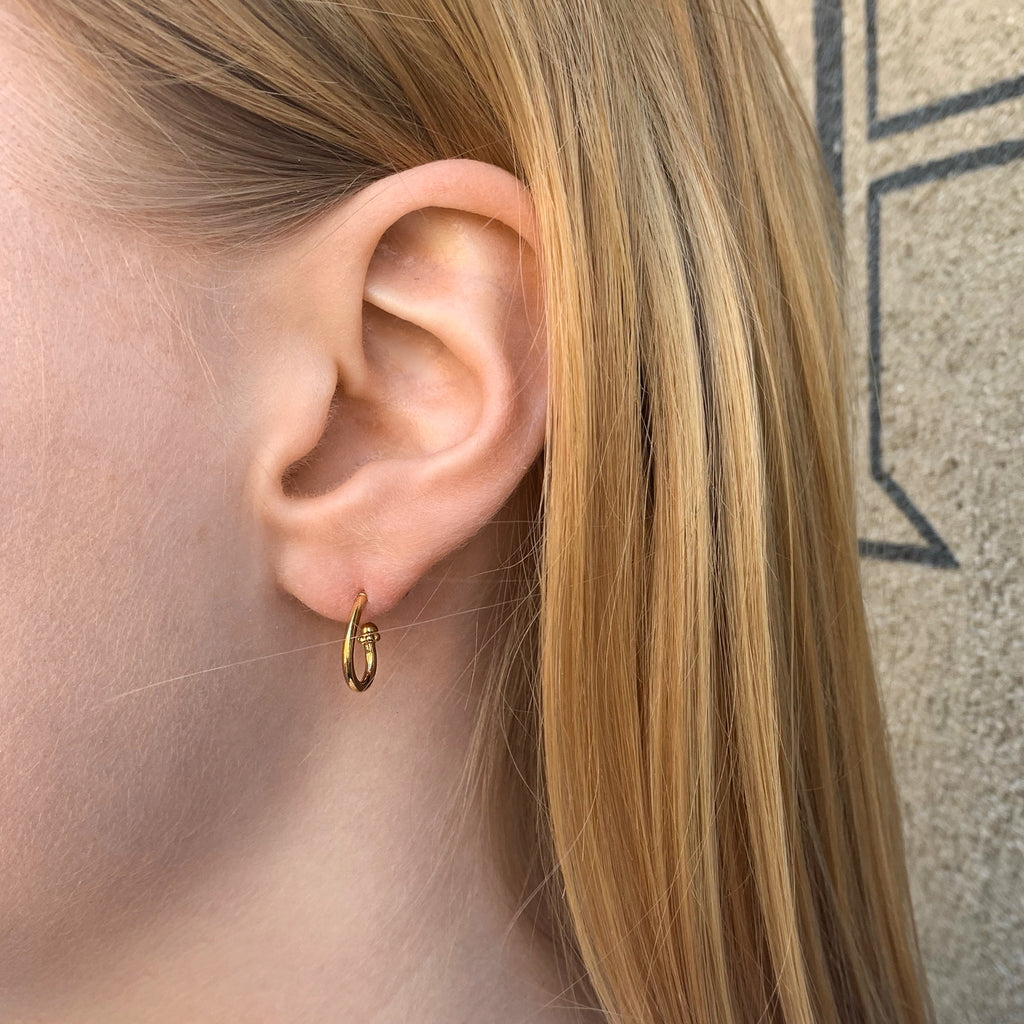 VINTAGE, Oval Small Hoops, Gold mini