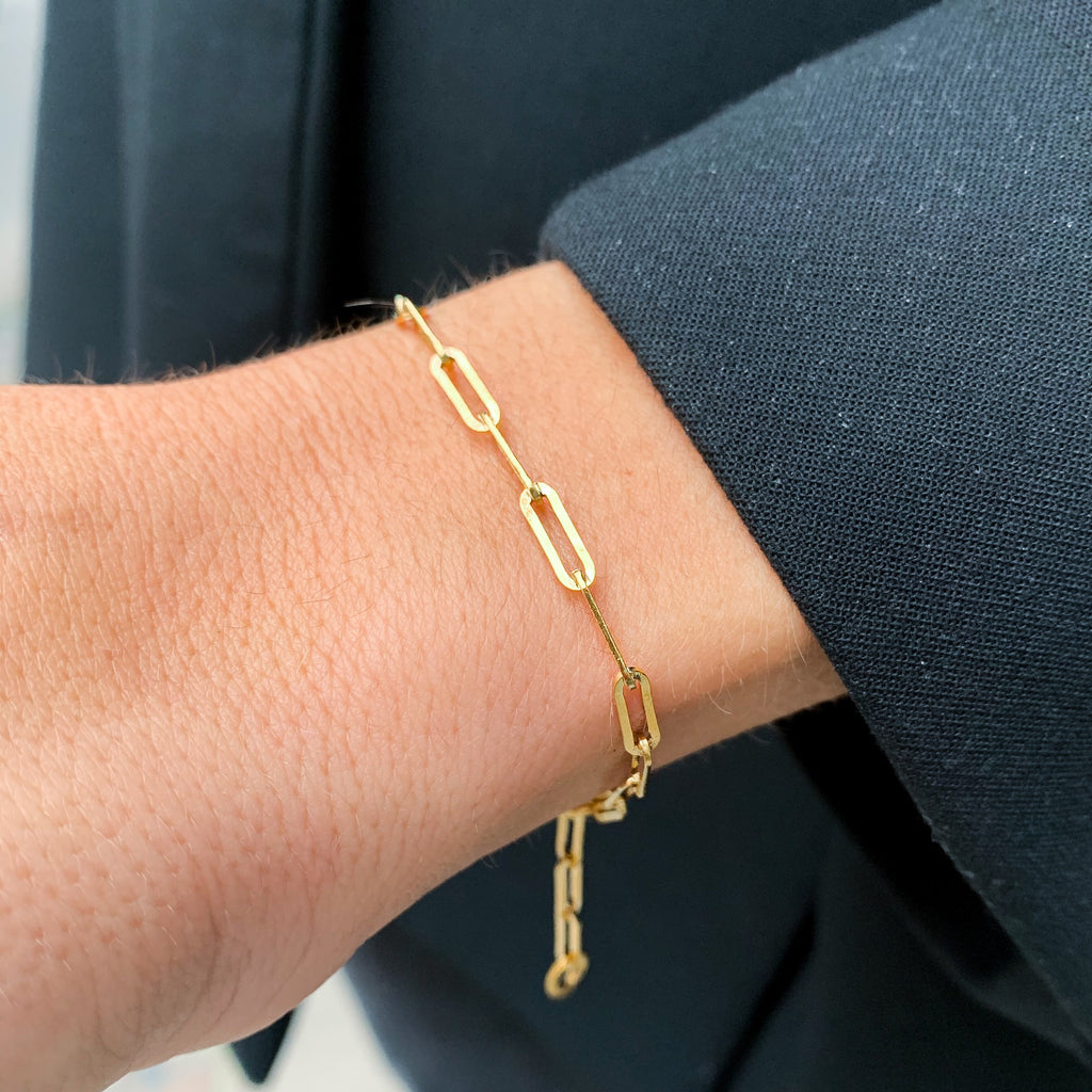 VINTAGE, Light Link Bracelet, gold