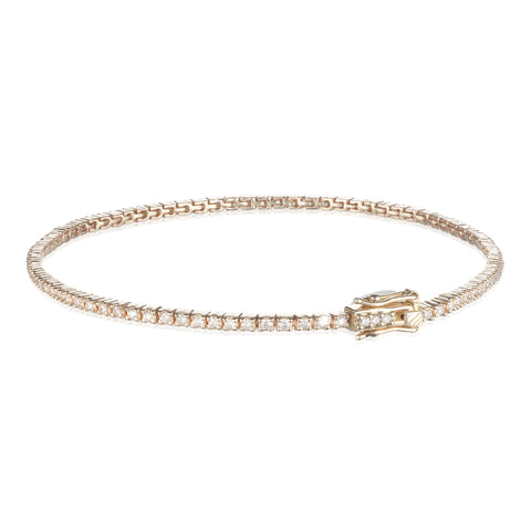 Aligned, Tennis 1,4 mm Bracelet, Gold/White