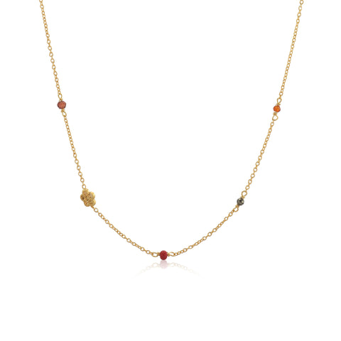MEADOW, Breeze Necklace, Gold/Red
