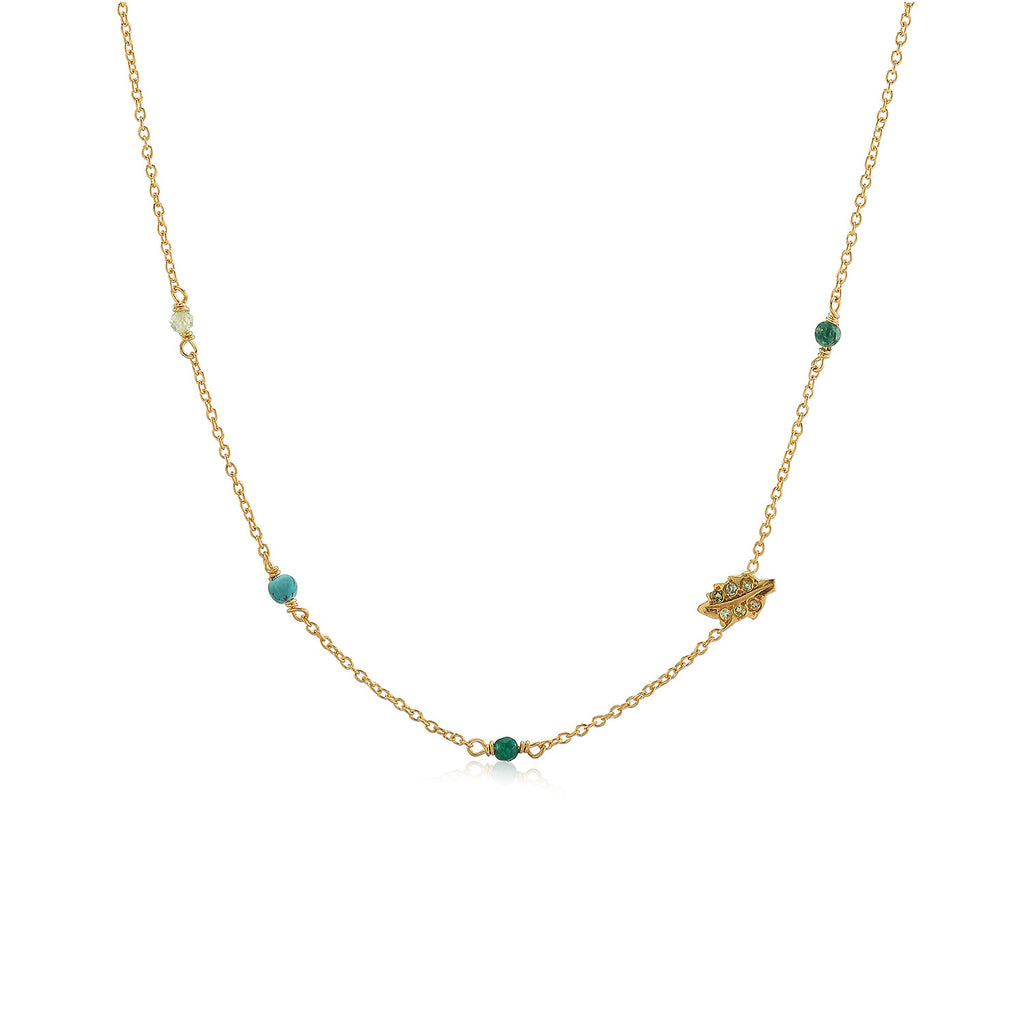 MEADOW, Breeze Necklace, Gold/Green