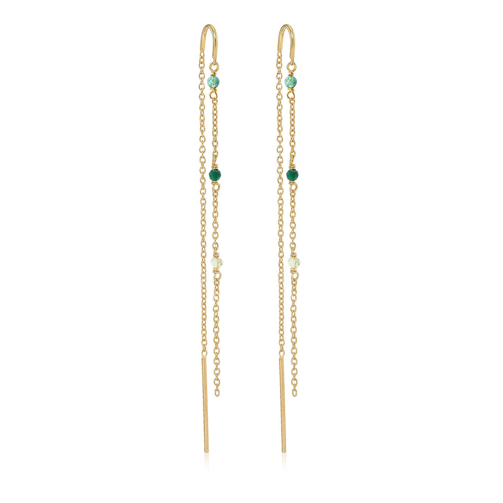 MEADOW, Chirping Dangles, Gold/Green