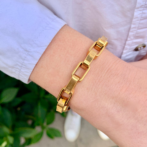 VINTAGE, Square, large, gold