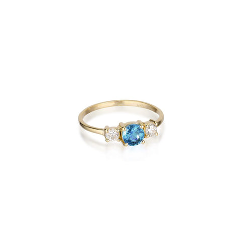 ALIGNED, Arranged Ring, Blue Topaz