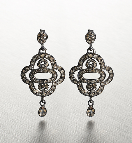 DIAMONDS, 2-Hearts Earring