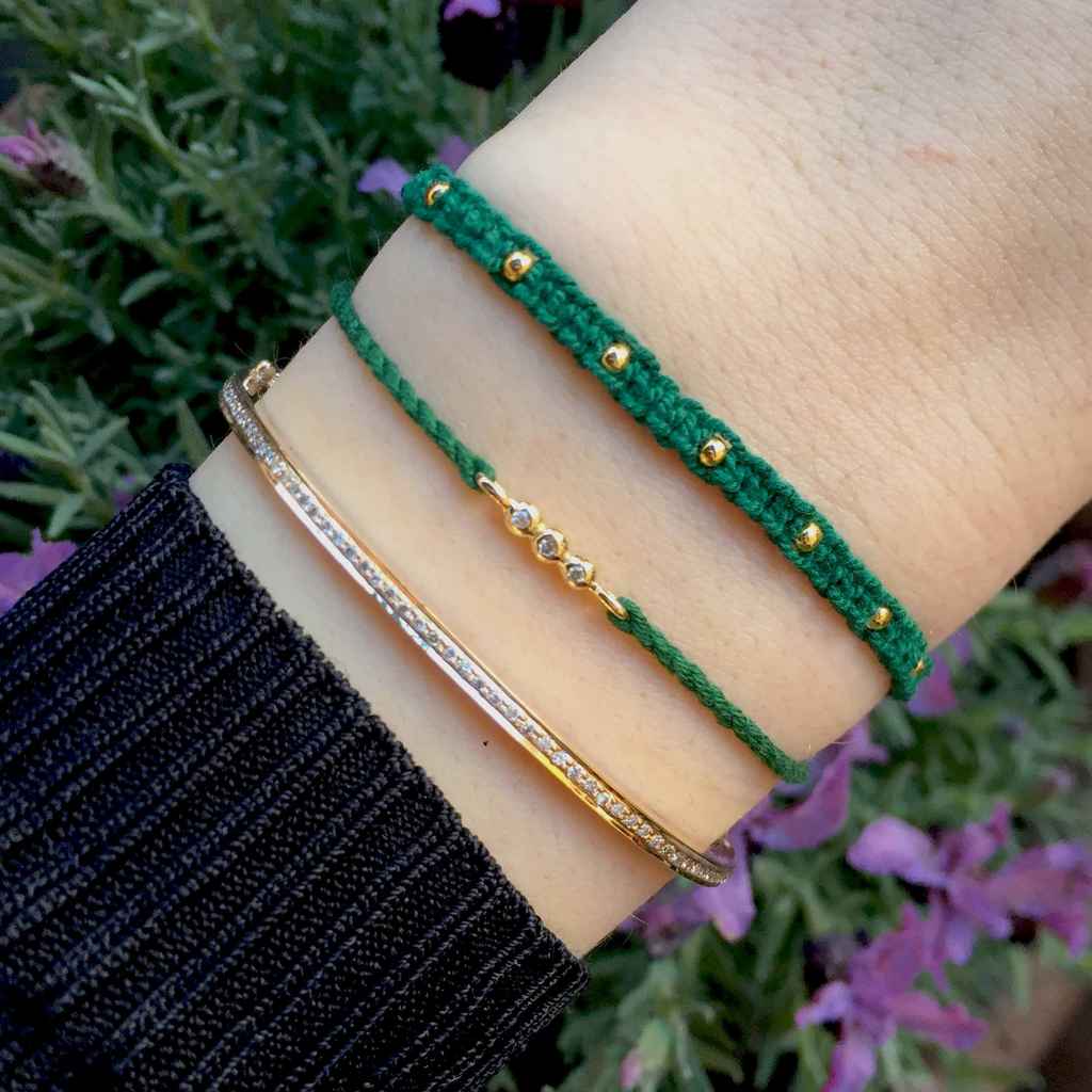 othmar bracelet green boho gold bracelets products beach