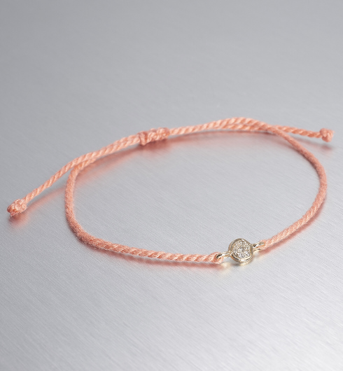 CIRCLE LINE, Micro Tie Circle, Coral/Gold