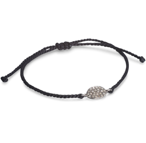 SUPER ELLIPSE, Ellipse Tie Bracelet, Gray/Dark
