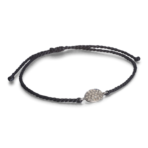 SUPER ELLIPSE, Ellipse Tie Bracelet, Black/Dark