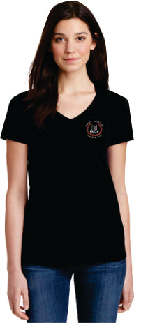 Rocky Mountain Triumph Club Ladies V-Neck Short-Sleeve T-Shirt - Monograms by K & K