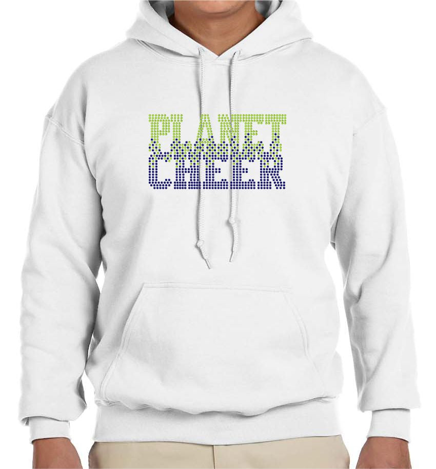 Planet Cheer Hoodie Adult Bleeding - Monograms by K & K
