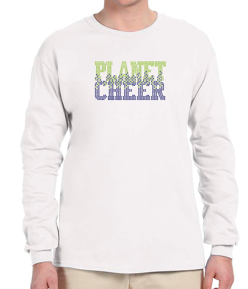 Adult Bleeding Planet Cheer Long-Sleeve T-Shirt