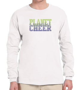 Planet Cheer Long-Sleeve T-Shirt Adult Bleeding - Monograms by K & K