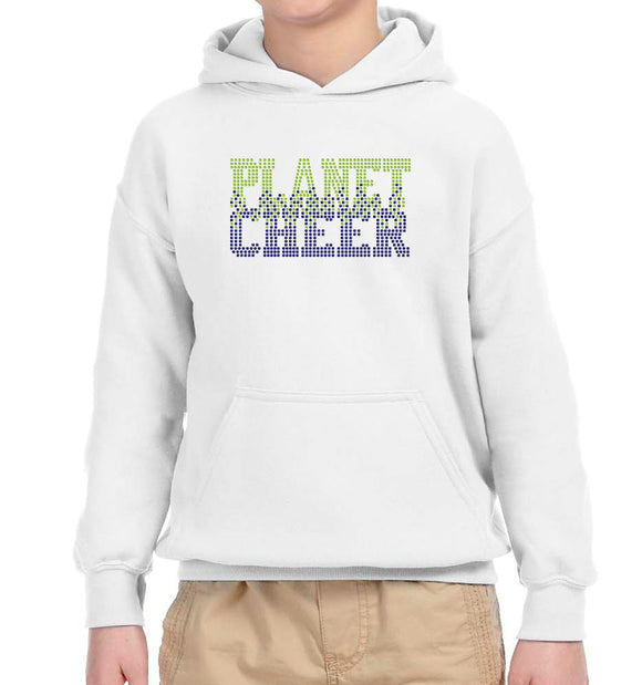Planet Cheer Youth Bleeding Hoodie - Monograms by K & K