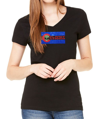 Ladies' CO Planet Cheer Short-Sleeve V-Neck