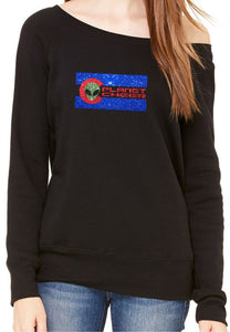 Planet Cheer Ladies' CO Wide-Neck Fleece Sweatshirt - Monograms by K & K