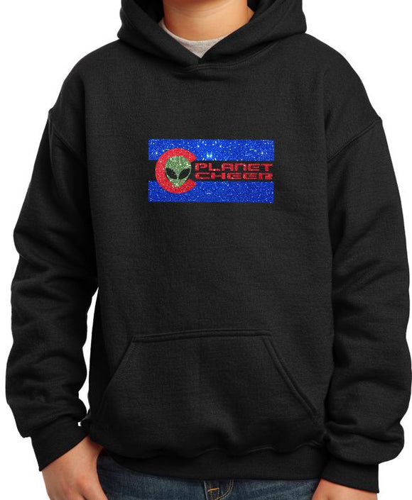 Planet Cheer Youth CO Hoodie - Monograms by K & K