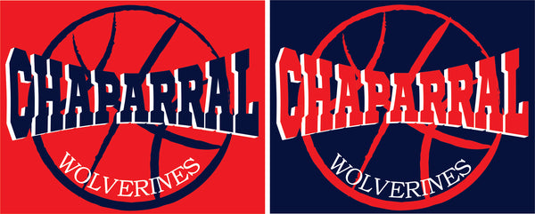 Chaparral Basketball Long-Sleeve T-Shirt - Monograms by K & K