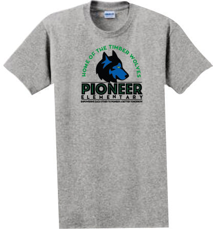 Pioneer Elementary Adult T-shirt - Monograms by K & K