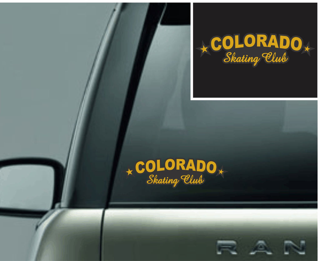 Colorado Skating Club Long Logo Car Decal
