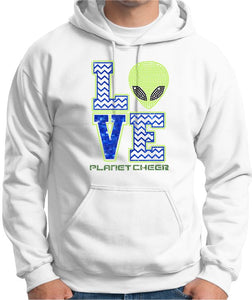 Planet Cheer Hoodie Adult Love - Monograms by K & K