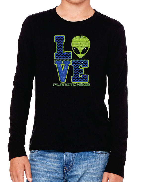 Planet Cheer Youth Love Long-Sleeve T-Shirt - Monograms by K & K