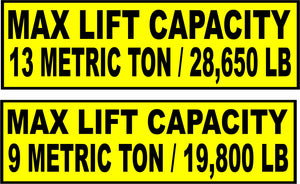 Max Lift Capacity - Monograms by K & K
