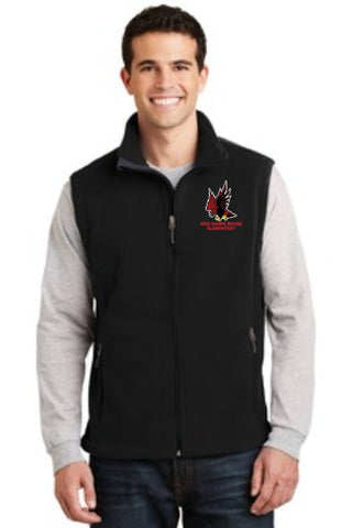 Red Hawk Ridge Fleece Vest - Monograms by K & K