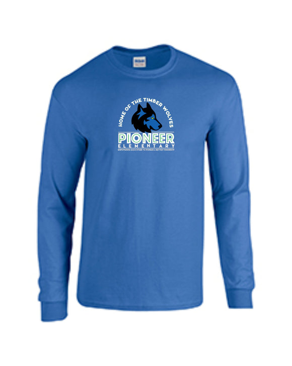 Pioneer Elementary Youth Long-Sleeve T-Shirt - Monograms by K & K