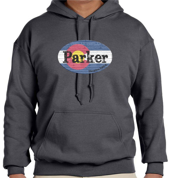 Parker, Colorado Flag Sweatshirt - Monograms by K & K