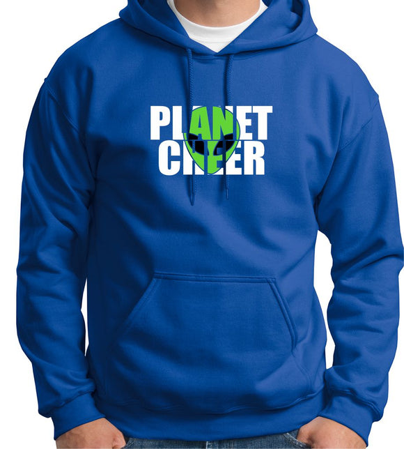 Planet Cheer Hoodie Adult Alien Head - Monograms by K & K