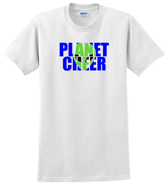 Planet Cheer Short-Sleeve T-Shirt Adult Alien Head - Monograms by K & K
