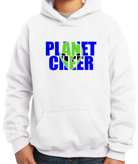Planet Cheer Youth Alien Head Hoodie - Monograms by K & K