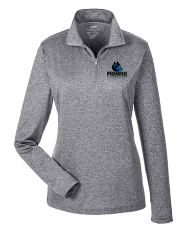 Pioneer Elementary Ladies 1/4 Zip Pullover - Monograms by K & K