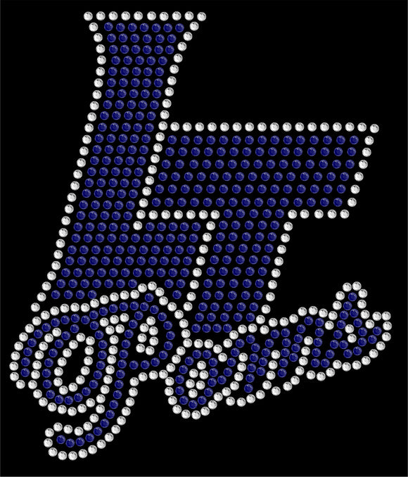 Legend Poms Rhinestone Decal #1