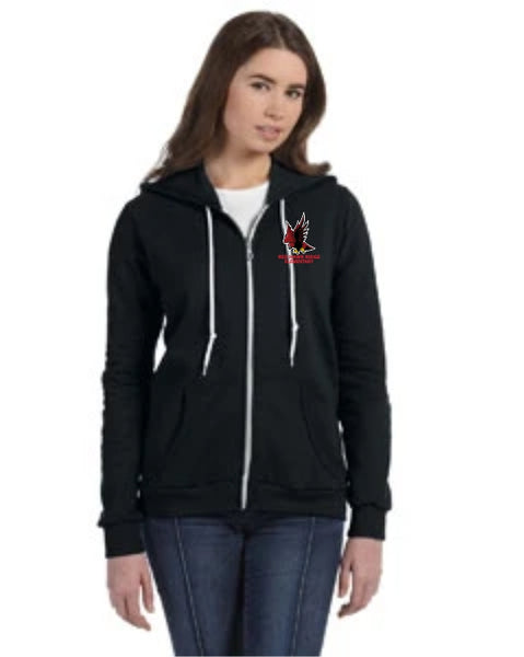 Red Hawk Ridge Zip Sweatshirt - Monograms by K & K