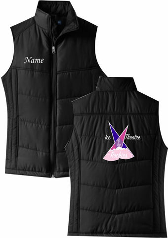 Ice Theatre of the Rockies Ladies' Puffy Vest - Monograms by K & K