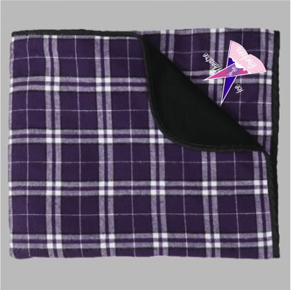 Ice Theatre of the Rockies Flannel Blanket - Monograms by K & K