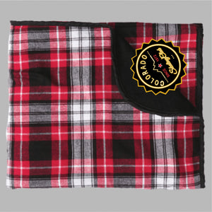 Colorado Skating Club Flannel Blanket - Monograms by K & K