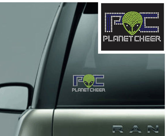 Planet Cheer Rhinestone Car Decal - Monograms by K & K